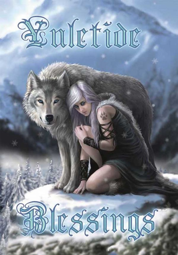 ANNE STOKES Winter Protector Yule Greeting Card